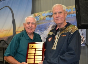 "The first ""Handler of the Year"" Award was presented to Ken Vidrine ."